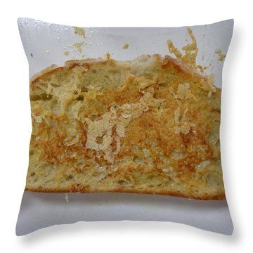 Great White On Grilled Cheese Throw Pillow
