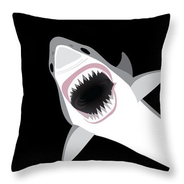 Great White Shark Throw Pillow by Antique Images