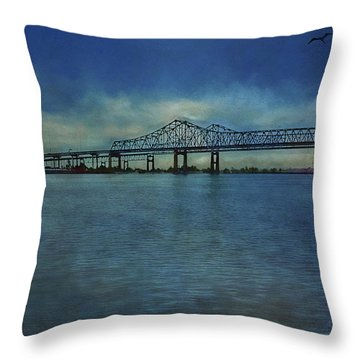 Greater New Orleans Bridge Throw Pillow
