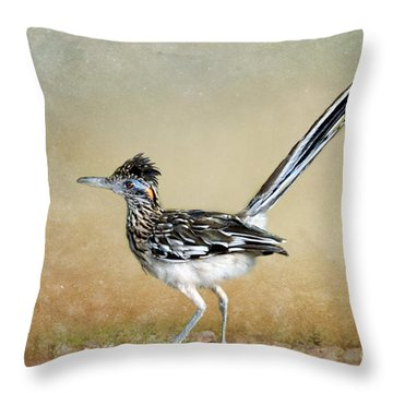 Greater Roadrunner 2 Throw Pillow