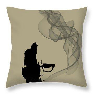 Greatest Job In The World - Mad Men Poster Roger Sterling Quote Throw Pillow