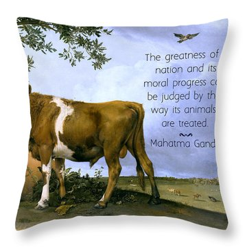 Greatness Of A Nation Throw Pillow