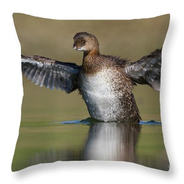 Grebe Flap Throw Pillow