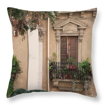 Grecian Courtyard Throw Pillow