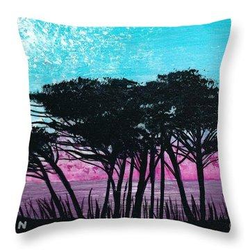 Grecian Sunset Throw Pillow