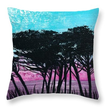Grecian Sunset Throw Pillow