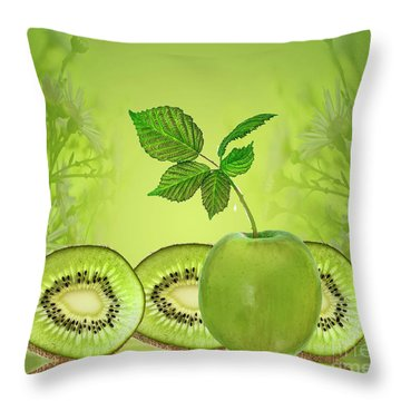 Greeeeeen Throw Pillow