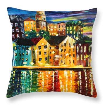 Greek Island Throw Pillow