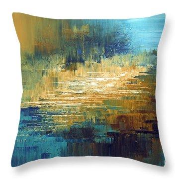 Greek Isles Throw Pillow by Tatiana Iliina