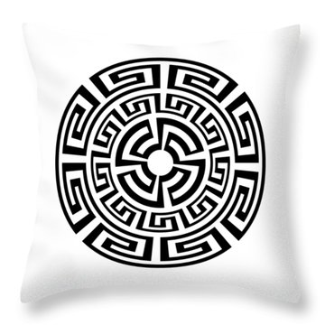 Greek Sun Throw Pillow