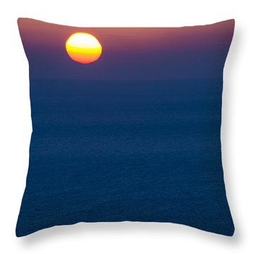 Greek Sunset Throw Pillow