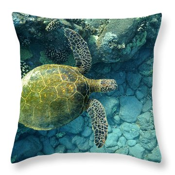 Throw Pillow featuring the photograph Green by Aaron Whittemore