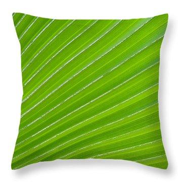 Green Abstract No. 1 Throw Pillow