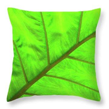 Green Abstract No. 5 Throw Pillow