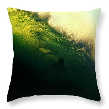 Green And Black Throw Pillow