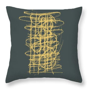Green And Gold 1 Throw Pillow