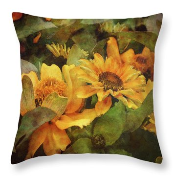 Green And Gold 1068 Idp_2 Throw Pillow