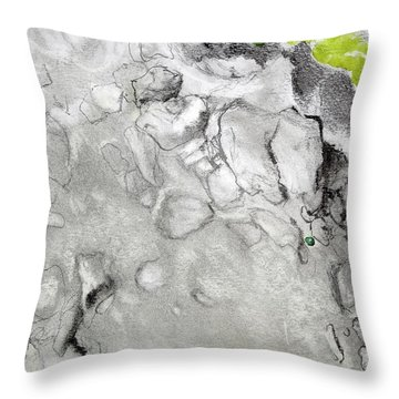 Green And Gray Stones Throw Pillow