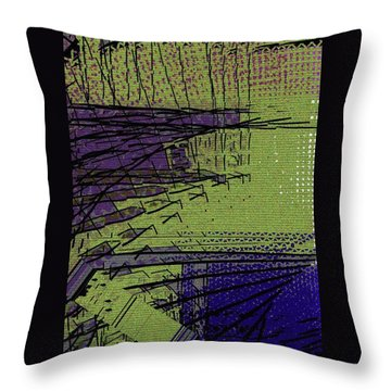 Green And Purple Field Throw Pillow