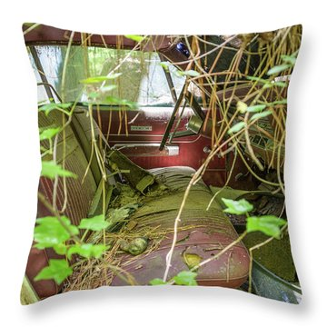Green And Red Throw Pillow