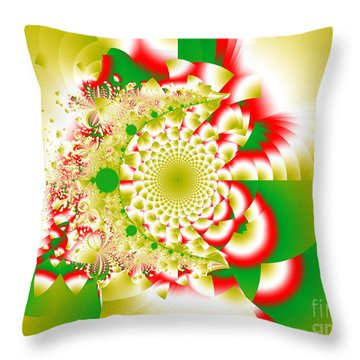 Green And Yellow Collide Throw Pillow