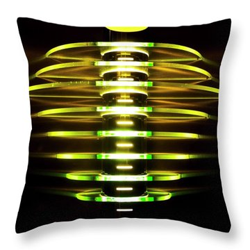 Green And Yellow Light Reflectors Throw Pillow
