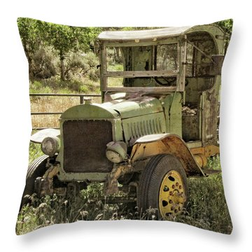 Green Antique Mack Throw Pillow