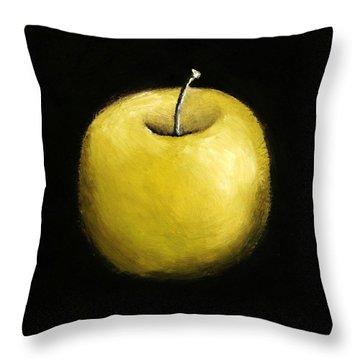 Green Apple Still Life 2.0 Throw Pillow by Michelle Calkins