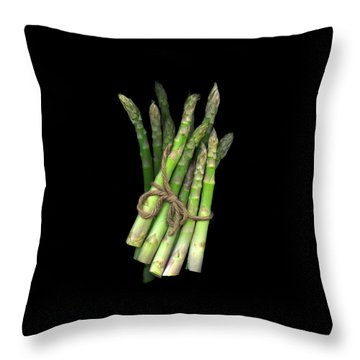 Green Asparagus Throw Pillow
