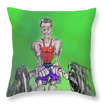 Green At Work Out West Throw Pillow