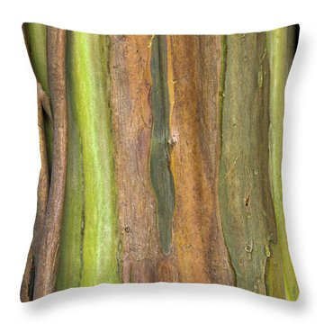 Throw Pillow featuring the photograph Green Bark 3 by Werner Padarin