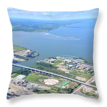 Green Bay To Bay Throw Pillow by Bill Lang