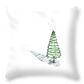 Green Bead Christmas Tree II Throw Pillow