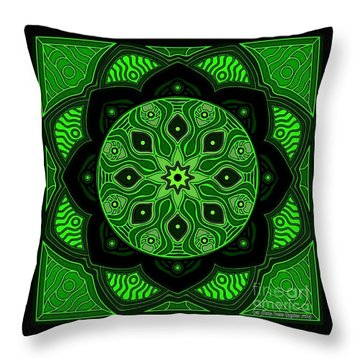 Green Beauty Throw Pillow
