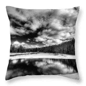Throw Pillow featuring the photograph Green Bridge Solitude by David Patterson