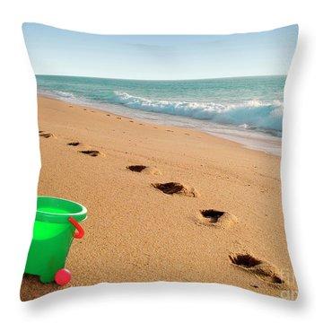 Green Bucket  Throw Pillow