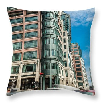 Green Building On Liverpool Metro Station London Throw Pillow