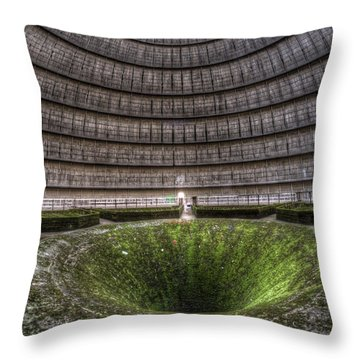 Green Center Throw Pillow by Nathan Wright