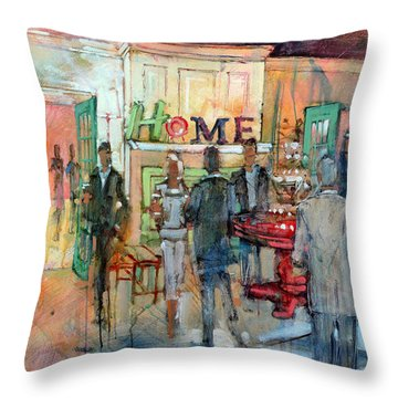Green Chair Home Throw Pillow