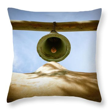 Throw Pillow featuring the photograph Green Church Bell by Marilyn Hunt