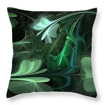 Green Clover Field Throw Pillow