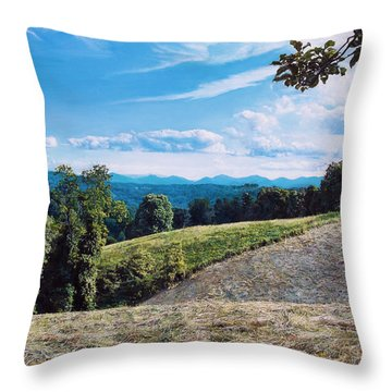 Green Country Throw Pillow