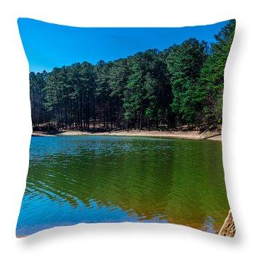 Green Cove Throw Pillow