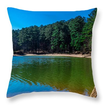 Green Cove Throw Pillow