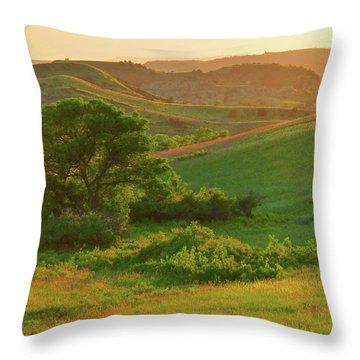 Green Dakota Dream Throw Pillow