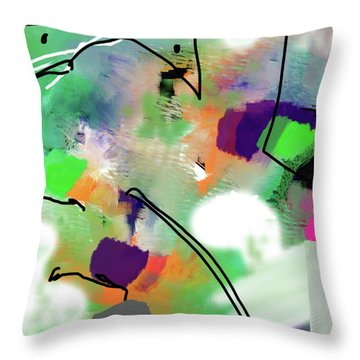 Green Day Throw Pillow