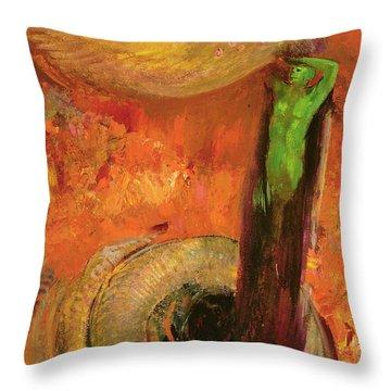 Green Death Throw Pillow
