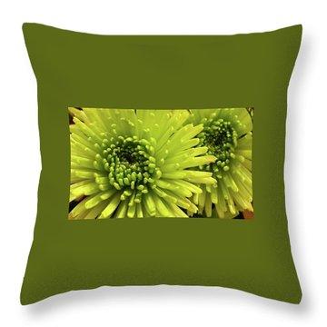Green Delight Throw Pillow