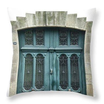 Green Door Throw Pillow