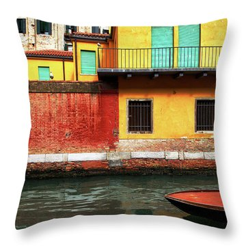 Throw Pillow featuring the photograph Green Doors by Sharon Jones